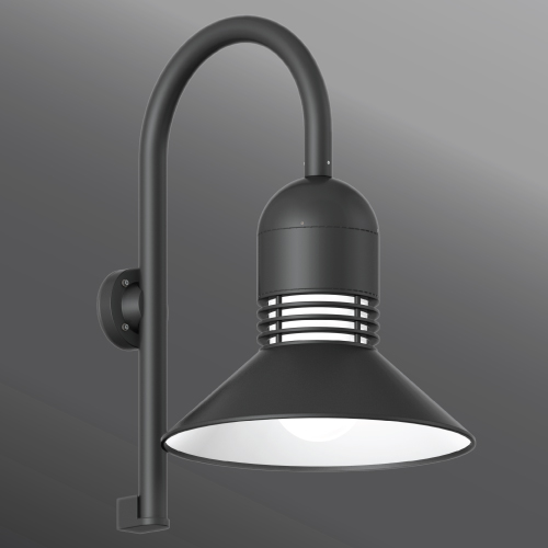 Click to view Ligman Lighting's  Duomo Shepherds Crook Wall Light (model UDU-3XXXX).
