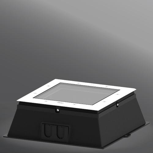 "Ligman Lighting's Kios 9 & 10 TYPE II, III & IV Uplight Extended Frame 14.17"" (model UKI-606XX)."