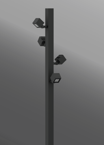 Ligman Lighting's Lador Cluster Column [Round or Square Pole] (model ULD-200XX).