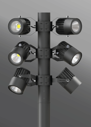 Click to view Ligman Lighting's  Odessa Cluster Column (model UOD-21XXX).