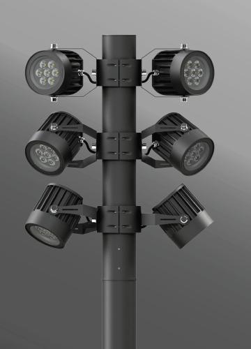 Ligman Lighting's Odessa Cluster Column (model UOD-21XXX).