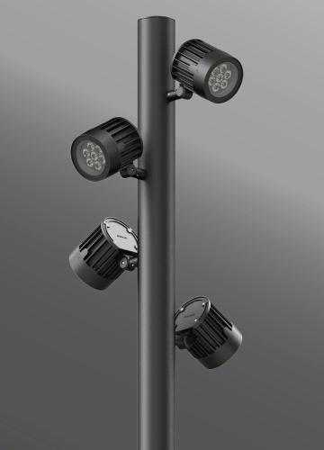 Ligman Lighting's Odessa Cluster Pole Mounted Floodlights (model UOD-2102X).