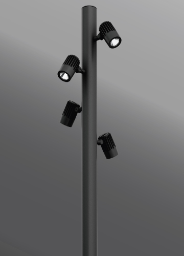 Click to view Ligman Lighting's Odessa Cluster Pole Mounted Floodlights (model UOD-2102X).