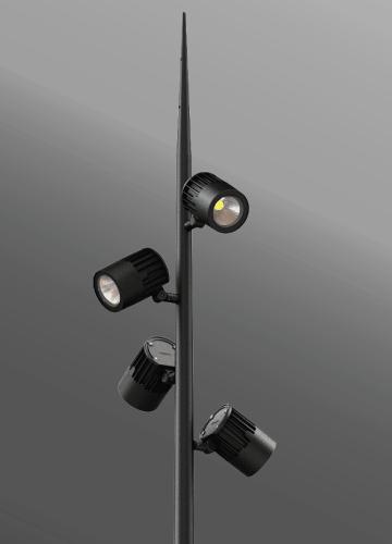 Click to view Ligman Lighting's  Odessa Cluster Spike Pole (model UOD-2103X).
