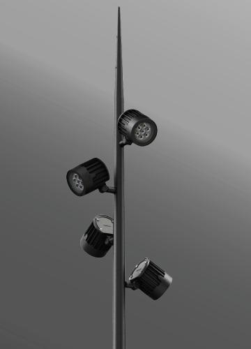 Ligman Lighting's Odessa Cluster Spike Pole (model UOD-2103X).
