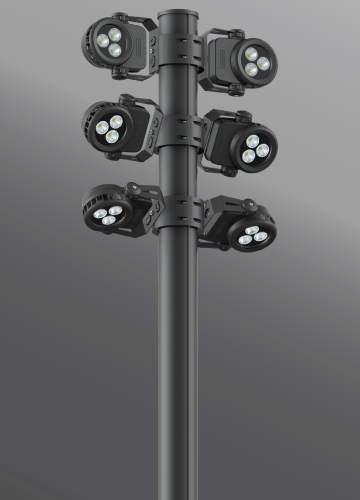 Click to view Ligman Lighting's Quantum Cluster Column (model UQA-210XX).