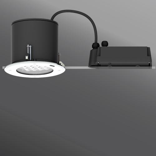 "Ligman Lighting's Robust 1, 2 Round Frame Recessed Downlight 9.45"" (model URO-80471, URO-800XX)."