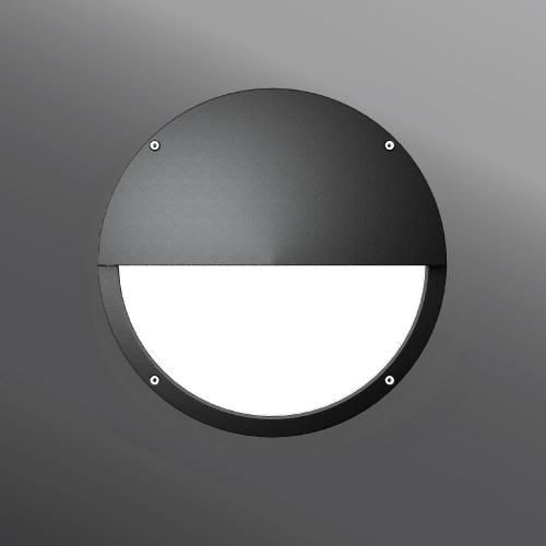 Ligman Lighting's Sandy semi-recessed wall light (model USA-40XXX).