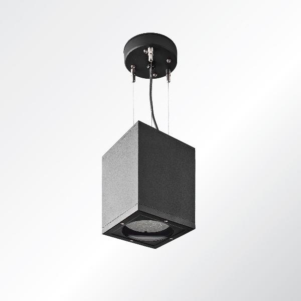 Ligman Lighting's Tango cylindrical and square pendant downlight HP LED (model UTA-953XX, UTA-952XX, UTA-951XX).