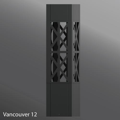 Ligman Lighting's Vancouver Square Bollard (model UVA-10001).