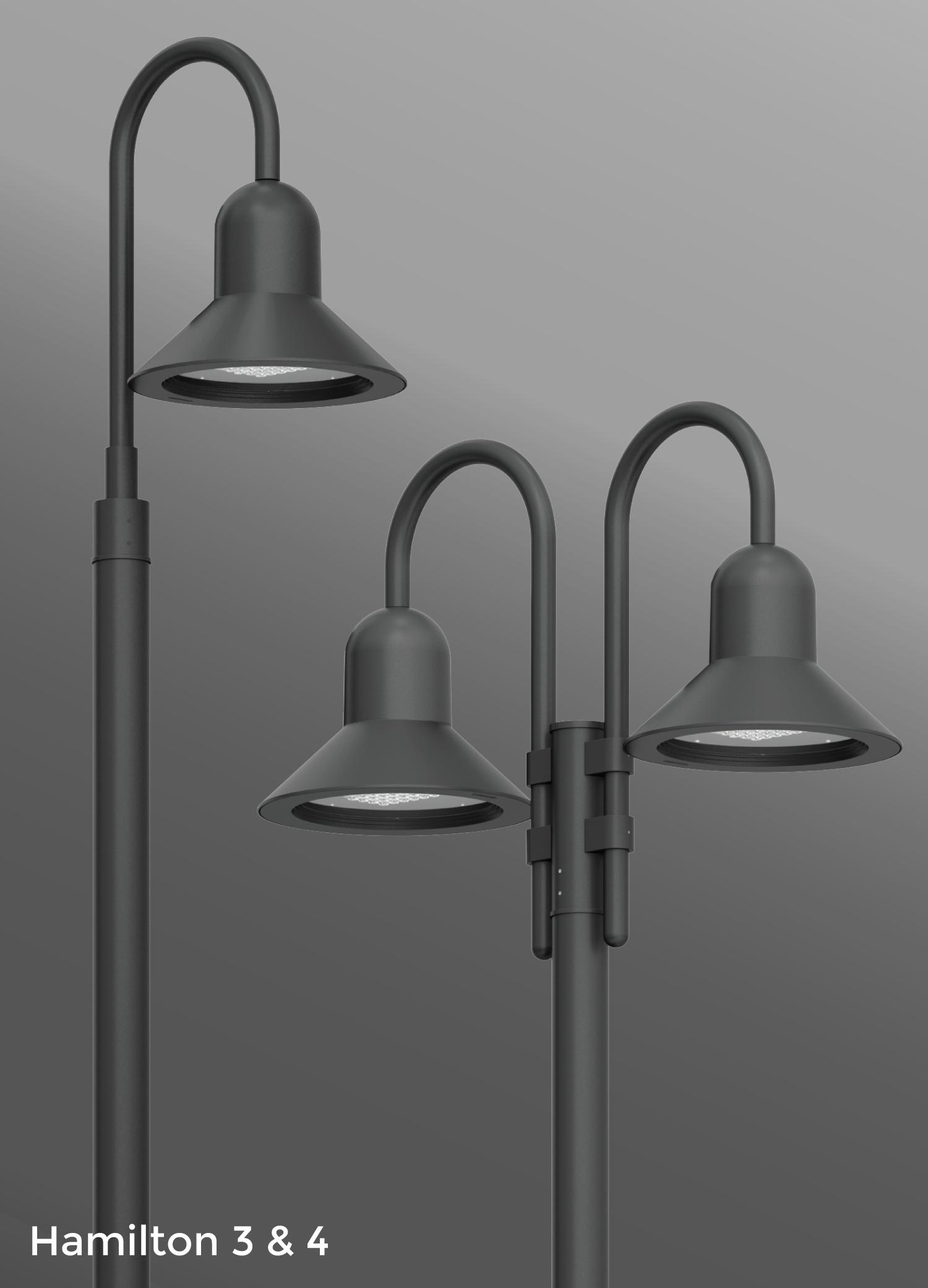 Ligman Lighting's Hamilton Post Top (model UHAM-200XX).