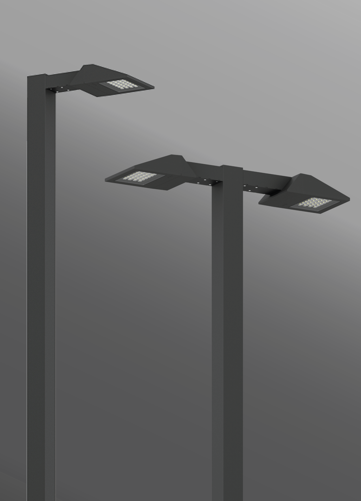 Click to view Ligman Lighting's  Vekter Area Light Extended Arm (model UVK-900XX).